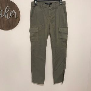 J brand Tencel cargo style green pants
